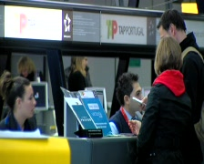 Airport check in Stock Footage