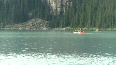 Canoes on Lake Louise Stock Footage