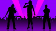 Stock Video Footage of Animation of people silhouettes singing