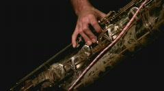 Saxo player Stock Footage