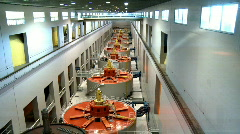 Hydroelectric turbines at Bonneville Dam Stock Footage