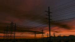 CG Desert Road 01a (1080p 23.976) - stock footage