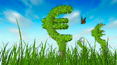 Growing euro trees in the grass  Stock Footage