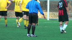 Referee gives penalty kick - HD Stock Footage