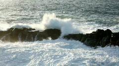 Ocean wave crashing Stock Footage