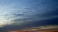 autumn sunset clouds 1 - stock footage