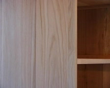 Staining a cupboard Stock Footage