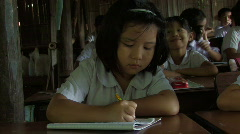 Karen Refugees: Girl in Class Stock Footage
