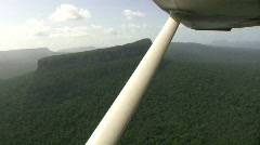 Rugged Landscape from a plane Stock Footage