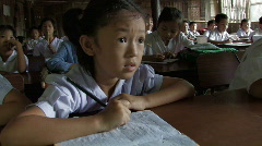 Karen Refugees: Student in School Stock Footage