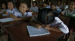 Karen Refugees: Young students take notes Stock Footage