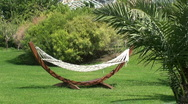 Stock Video Footage of Hammock in a garden, empty