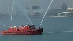 Fire Department Boat Stock Footage