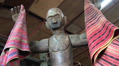 Banaue Ifugao wooden carving 9  Stock Footage