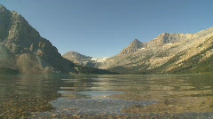 Bow Lake, calm morning Stock Footage