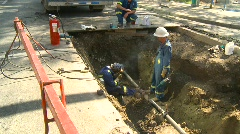 Construction, gas pipe welding , #4 Stock Footage