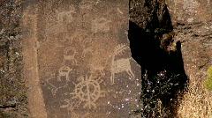 native american petroglyph - stock footage