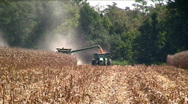 Stock Video Footage of Combine filling a side truck