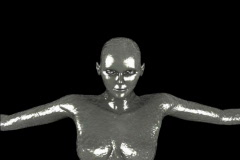 Silver mannequin animation Stock Footage