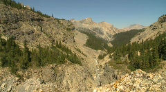 High up a mountain valley, 7000' ASL Stock Footage