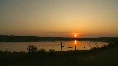 Sunrise over prairie pond, #1 Stock Footage