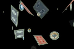playing cards and chips animation - stock footage