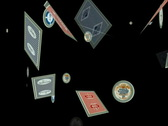 Playing cards and chips animation Stock Footage