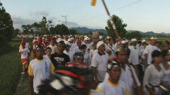 Bali 22 Big Procession once in 10 years Stock Footage