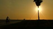Bikes on beach boardwalk - HD Stock Footage