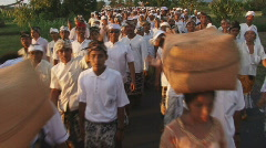 Bali 23 Big Procession once in 10 years 2 - stock footage