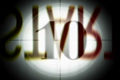 Video loop with 10 to 1 countdown Stock Footage