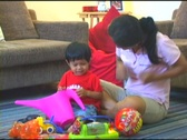 Stock Video Footage of Asian Woman Playing With Her Adorable Little Boy