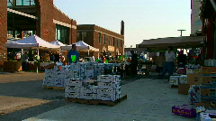 Detroit's eastern market where farmers sell their fresh produce Stock Footage