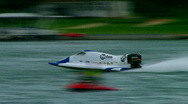 Stock Video Footage of APBA outboard hydroplane race