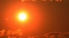 Fiery Sunset  - stock footage