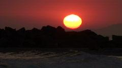 Aurinko laskee yli Venice Beach - HD Arkistovideo
