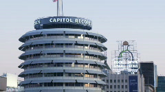 Capitol Records Dusk Time-lapse Stock Footage
