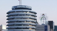 Stock Video Footage of Capitol Records Dusk Time-lapse