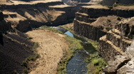 Canyon and river Stock Footage