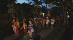 Bali 34 Wedding Ceremonie Stock Footage