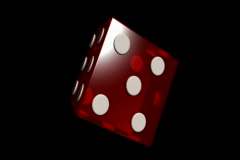 Video loop with big red dice Stock Footage