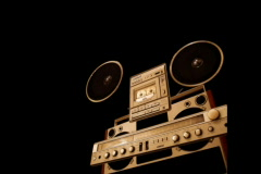 radio parts in motion - stock footage