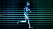 Stock Video Footage of Medical EKG and woman running,loop