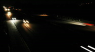 HD1080p German Autobahn. Night Car Traffic (Time Lapse) Stock Footage