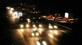 HD1080p German Autobahn. Night Car Traffic (Time Lapse) HD Footage