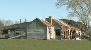 Stock Video Footage of old farm house and outbuildings