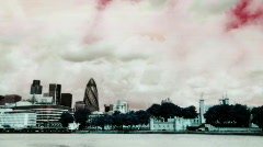 tower bridge london skyline city urban river thames - stock footage