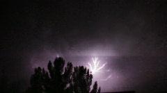 Powerful Sheet Lightning - 2 Stock Footage