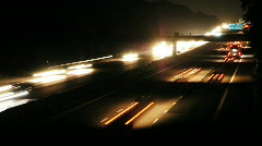 HD1080p German Autobahn. Night Car Traffic (Time Lapse) - stock footage