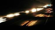 HD1080p German Autobahn. Night Car Traffic (Time Lapse) Stock Footage